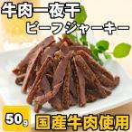 国産 牛肉一夜干 ソフトビーフジャーキー 50g 国産牛肉