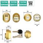 TOSTEM トステム リクシル 鍵 DNシリンダー QDK668 QDK751 QDK752 2個同一 グレイスゴールド Z-1A1-DDTC