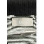 ディオールオム Dior HOMME ワッペンボーダー半袖ポロシャツ XS グレー調×ブラック 【BS99】【702191】【中古】