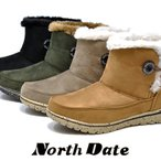 North Date ノースデイト ME 7003 ダテハキ 冬靴  レディース 防寒 ショート スノーブーツ スパイク カジュアルブーツ 雪 防滑