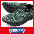 ショッピングOUTDOOR メンズ スリッポン シューズ アウトドア プロダクツ メッシュ ODP 048 モック 黒 ブラック ストレッチスニーカー シューズ 紳士 靴