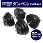 セメントダンベル 20kg 2個セット 送料無料 エクササ