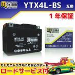 マキシマバッテリー MTX4L-BS 1年保証 MFバッテリー (互換 YTX4L-BS/GTH4L-BS/FTH4L-BS/DTX4L-BS) リード50 AF20