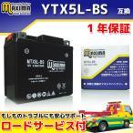 マキシマバッテリー MTX5L-BS 1年保証 MFバッテリー (互換 YTX5L-BS/GTX5L-BS/FTX5L-BS/DTX5L-BS) RG125ガンマ NF13A