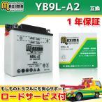 バイクバッテリー MB9L-A2 1年保証 開放型 (互換 YB9L-A2/GM9Z-3A-1/FB9L-A2/DB9L-A2) エリミネーター250/SE