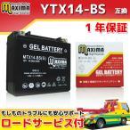 YTX14-BS/FTX14-BS/DTX14-BS/65948-00互換 バイクバッテリー MTX14-BS(G) 1年保証 ジェルタイプ GSX1400 GSX-R1100 GSX1100G【クーポン配布中】