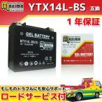 マキシマバッテリー MTX14L-BS(G) 1年保証 ジェルタイプ (互換 YTX14L-BS/65958-04/65958-04A/65984-00) XL883L スポーツスター883ロー