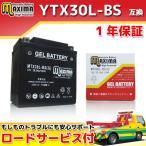 バイク バッテリー MTX30L-BS(G) 1年保証 ジェルタイプ (互換 YTX30L-BS/66010-97A/66010-97B/66010-97C) FLHTC エレクトラグライドクラシック 1450cc