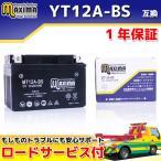 マキシマバッテリー MT12A-BS 1年保証 MFバッテリー (互換 YT12A-BS/FT12A-BS/DT12A/DT12A-BS) スカイウェイブ250 リミテッド CJ46A