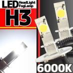ショッピングLED LEDヘッドライト フォグランプ H3 6000K 2灯分
