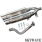スズキ SKYWAVE スカイウェイブ250 CJ43A デュアルマフラー