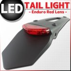 LED エンデューロ テールランプ レッドレンズ KLX125 KLX250 KX85 Dトラッカー KLX110 KX450Fなどに