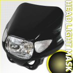 ウインカー付ヘッドライト カウルマスク ブラック KTM 125デューク 200デューク 390デューク 690デューク 990SMなどに
