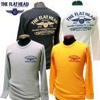 """THE FLAT HEAD(フラットヘッド) ショルダーパッド サーマル長袖Tシャツ """"フライングホイール"""" THLD-003 【メンズ/アメカジ/フラヘ/バイカー/日本製】"""