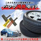 タイヤ パンク 修理キット リペアキット 車 バイク カー用品 応急処置  緊急時に便利!