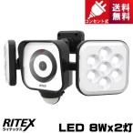 ライテックス C-AC8160 LEDセンサーライト 防犯カメラ 8W×2灯 コンセント式