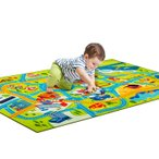 ラグマット プレイマット プレー絨毯 カーペット ラグ レール ベビー キッズ 子供プレゼント ミニカー 遊ぶマット 道路 線路 子供部屋 洗える 絨毯 洗濯可能