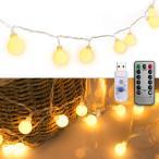 LEDストリングライト ガーランド 電飾 フェアリーライト 装飾ライト クリスマスツリー ライト 防雨型 PC素材 ledに適してベッドルーム アウトドア