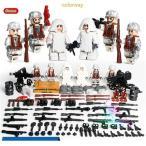 ミニフィグ軍事 兵隊 アルプスの決戦 8体セット 武器 付き レゴ 互換 LEGO ミニフィギュア ブロック おもちゃ キッズ 子ども
