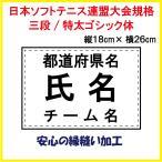 ソフトテニス ゼッケン W26×H18 日本ソフトテニス連盟大会用規格で作成します。 即日発送可