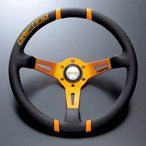 正規輸入品 モモ ステアリング ドリフティング 35パイ オレンジ MOMO DRIFTING 85mmディープコーン