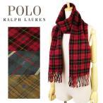 ポロ ラルフローレン Polo Ralph Lauren Doubleface Tartan チェック メンズ レディース マフラー ストール ウール×ナイロン 6f0521