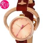 [厳選]ヴィヴィアン・ウエストウッド Vivienne Westwood 腕時計 レディース Horseshoe 23mm ピンクゴールド ボルドー レザー vv082rsrd