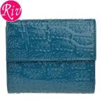 [厳選]フォリフォリ Folli Follie 財布 三つ折り ブルー PVC レザー wa0l027sq