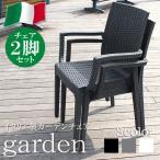 ガーデンチェアー 2脚セット 肘付き イス リゾート アジアン チェアー アウトドア カフェ