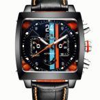 PAULAREIS 自動巻き 機械式 メンズ 腕時計 タグホイヤー モナコ モチーフ