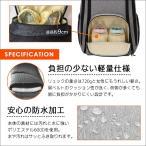 AILES マザーズバッグ リュック 大容量 多機能 盗難防止ポケット 保温ポケット付き 軽量 (グレー)