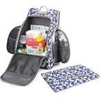 MOMMORE マザーズバッグ リュック キャンバスバッグ 軽量 大容量 多機能 22L