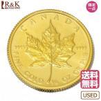 K24 メイプルリーフ コイン 1/4オンス カナダ 1982年 純金 24金 金貨 レディーズ メンズ 中古
