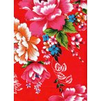 《台灣客家花布》 布地(3尺×9尺)・紅(赤) 《台湾製品》