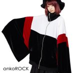 ankoROCK アンコロック ジャケット メンズ レディース ユニセックス ジャージ アウター ブルゾン ビッグシルエット BIG キモノ袖