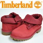 Timberland(ティンバーランド/レディース ブーツ 靴)ジュニア ロールトップ レッド(A16D5)