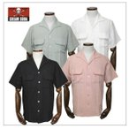 クリームソーダ  CSイタリアンカラーシャツ ブラック/ピンク/グリーン/ホワイト CREAM SODA