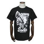 クリームソーダ   CSドクロチーフTシャツ ブラック CREAM SODA