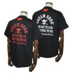 クリームソーダ   CSアーチドクロTシャツ ブラック-レッド/ブラック-ホワイト CREAM SODA