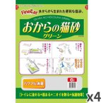 常陸化工 おからの猫砂グリーン6L 猫用 ×4入【送料無料】