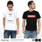 ショッピングプリント Tシャツ メンズ プリント ロゴ アメカジ 半袖 クルーネック 綿 シンプル
