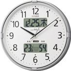 シチズン 電波時計 壁掛け時計 温度計 湿度計 インフォームナビF シルバーメタリック 4FY618-019