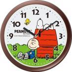 リズム時計工業 スヌーピーM712A クォーツ壁掛け時計 アナログ キャラクター時計 茶 ブラウン 4KG712MA06