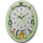 リズム時計工業 Disney ディズニー 電波壁掛け時計 くまのプーさん M523 4MN523MC03 メロディー 音楽 白パール アナログ