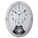 リズム時計工業 SmallWorld 電波壁掛け時計(アミュージングタイプ)  4MN528RH03 スモールワールドリリィ 白(白) アナログ