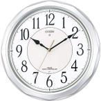 シチズン リズム時計工業 ネムリーナサニー 銀 壁掛け時計 4MY642-019 アナログ