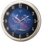 シチズン リズム時計工業 ファンタジータウン 4MY819-018 電波壁掛け時計 シャンペンゴールド アナログ