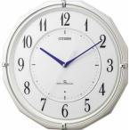 シチズン リズム時計工業 高感度電波壁掛け時計 スリーウェーブM822 4MY822-003
