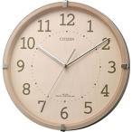 リズム時計工業 CITIZEN シチズン 電波壁掛け時計 シンプルモードアークミニ 4MYA27-013 木枠 ピンク半艶仕上 アナログ