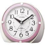 リズム時計工業 CITIZEN シチズン 電波目覚まし時計 ネムリーナマロンF 4RL431-N13 ライト付 白パール ホワイト アナログ